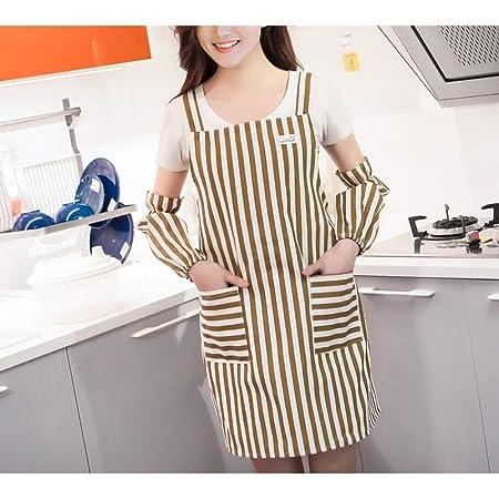 ZhengFei Delantal de Mujer Delantal de Cocina de Moda Mangas ...
