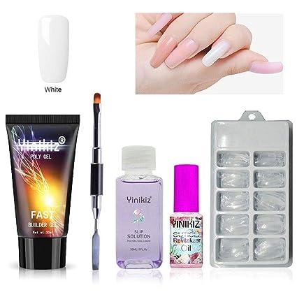 Kit PROLONGACIÓN de uñas de gel, uñas postizas Fingers Poly Gel ...