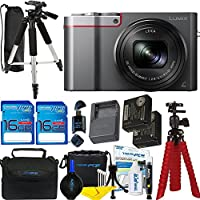 Panasonic Lumix DMC-ZS100 Digital Camera (Silver) + Deal-Expo Premium Accessories Bundle