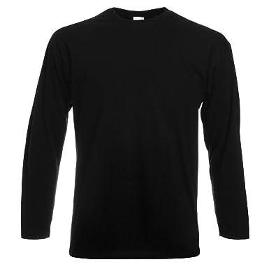 095cbe6c Fruit Of The Loom Mens Valueweight Crew Neck Long Sleeve T-Shirt ...
