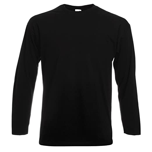 7a782e8a Fruit Of The Loom.. Mens Valueweight Crew Neck Long Sleeve T-Shirt (