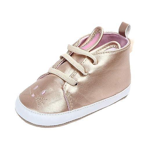 faeaf8623b486 Amazon.com: Gooldu Baby Lace-Up Shoes, Girls Newborn Baby Cute ...