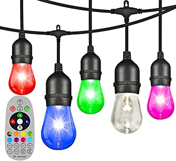 Angroc 48-Foot Color-Changing Outdoor LED String Lights