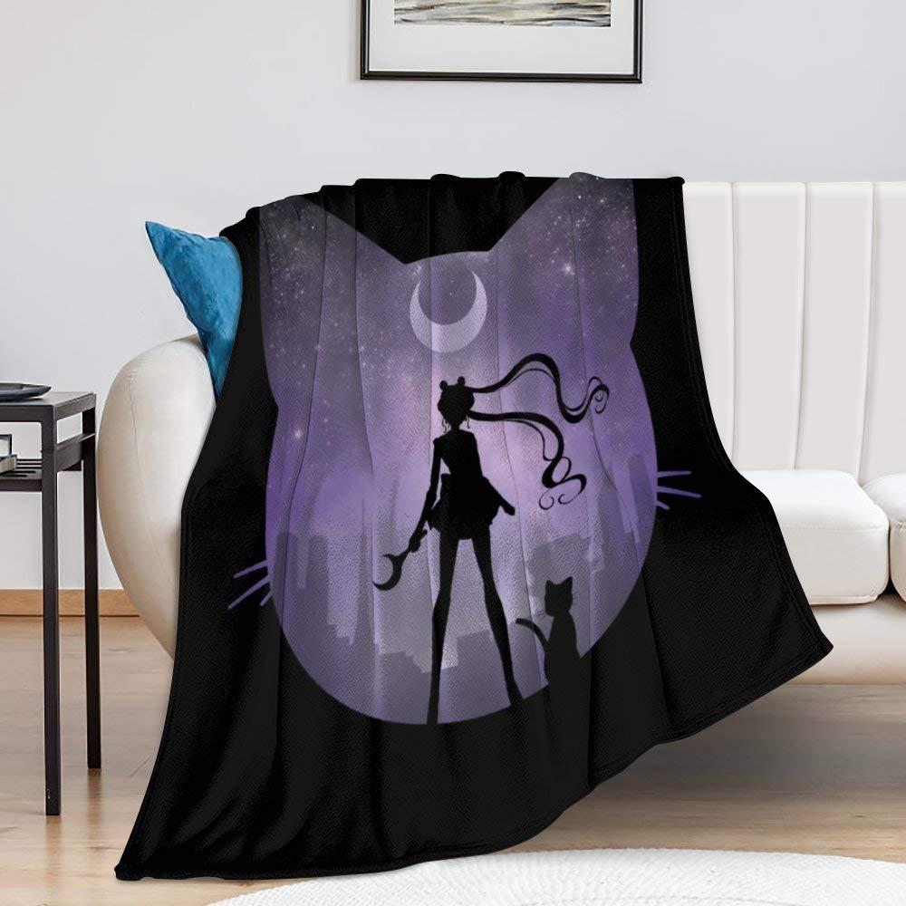 Sailor Manga M-oon Blanket Fleece Warm Throw Blankets 50 X 60 inch