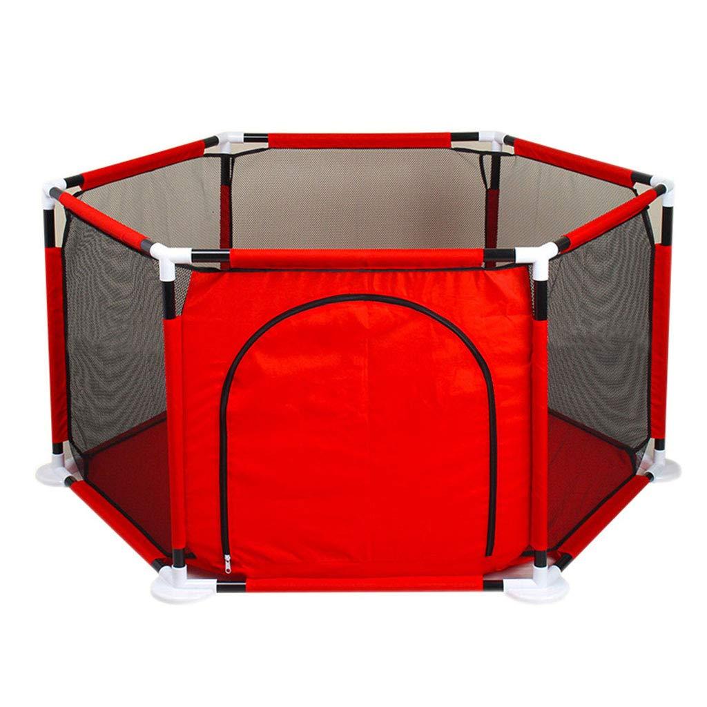 ベビーゲート 赤ちゃんフェンス幼児ガードレールクロールマット屋内遊び場保護ベビーサークルテント組み立てハウスプレイヤードオックスフォード布ボールプールおもちゃ (含まれていないボールとマット)   B07RB21HPV
