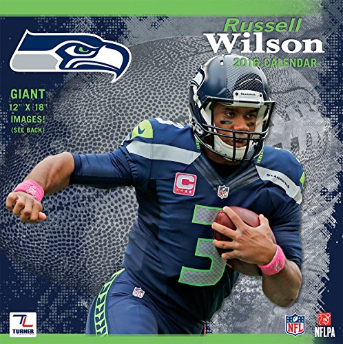 Turner Seattle Seahawks Russell Wilson 2016 Wall Calendar, Sept. 2015-December 2016, 12 x 12 inches (8011786)