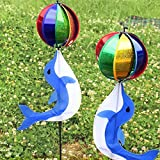 Best Garden Tools Yard Cute Rainbow Wind Spinner Colorful Windmill Cute Cartoon Animal Winnower Kids Toy Garden Decorative Stakes Wind Spinners