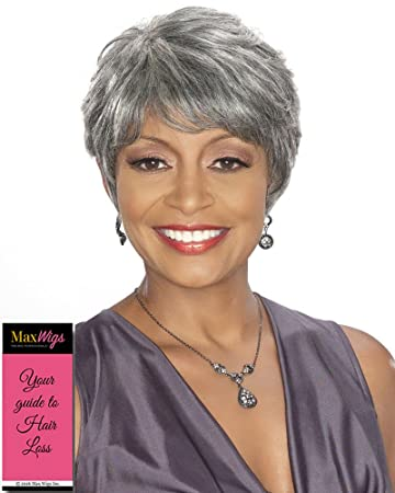 Amazon.com   Priscilla Wig Color 3T34 - Foxy Silver Wigs Human Hair Pixie  Cut Synthetic Tapered Sides Layered Bangs African American Womens  Lightweight ... 357180013c