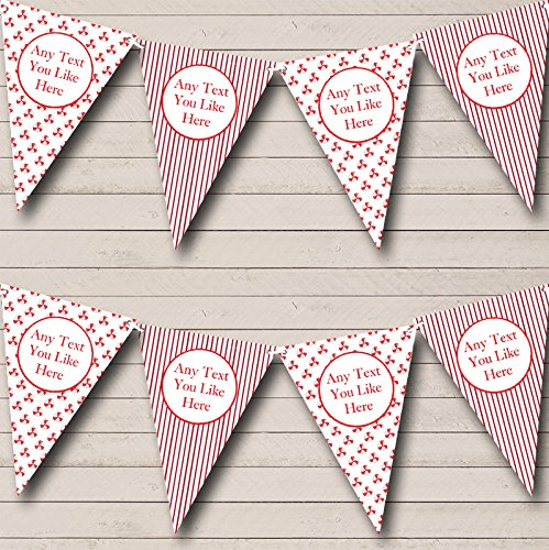 Candy Sweet Stripe Personalized Christmas Decoration Bunting Banner Garland
