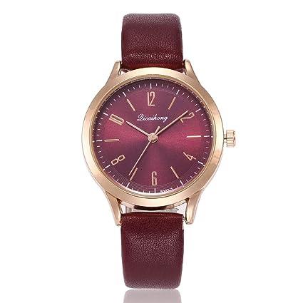 Aligmentpai - Reloj de pulsera analógico de cuarzo con números arábigos  para niñas b30d32802a41