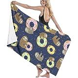 Oversized Beach Blankets SOUER Soft Bath Towels Extra Large Alpaca Flower Travel Microfiber Quick-Drying Bath Towels