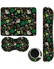 Keyboard Wrist Rest + Mouse Pad + Mouse Wrist Support Cushion + Coffe Coaster Set (4Pcs),Memory Foam,Ergonomic Mouse Keyboard Pad Set for Home Office Computer Laptop-Sloth Mother & Baby