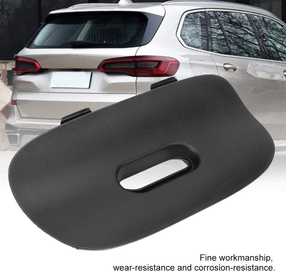 Gorgeri Cubierta de la barra de remolque del paragolpes trasero negro del coche Enganche de remolque de aleta E53 X5 2000-2006