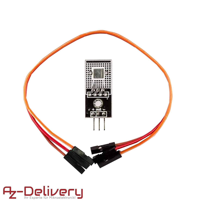 AZDelivery Modulo di temperatura DS18B20 sensore con cavo Jumper Wire per Arduino Raspberry Pi e altri Microcontroller con eBook