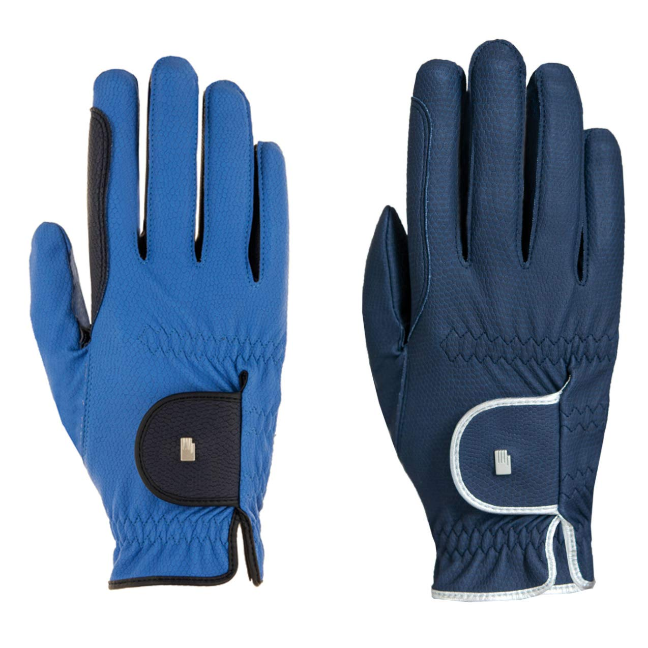 Roeckl – レディースコントラストRiding Gloves Lona 7.5 navy-silver B07B3YPWQJ