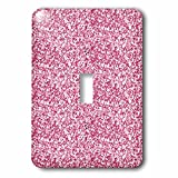 3dRose Uta Naumann Faux Glitter Pattern - Image of Sparkling Blush Pink Luxury Elegant Mermaid Glitter Effect - Light Switch Covers - single toggle switch (lsp_274954_1)