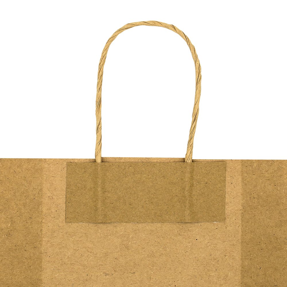 Bagmad Thicker Paper 50 Count 10x5x13, Large Kraft Paper Shopping Bags with Handles,Gift Natural Party Retail Craft Brown Bags,50PCS by Bagmad (Image #6)