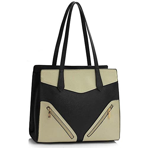 752feddbe7 Womens Fashion Tote Shoulder Bags Ladies Large Designer Faux Leather New  Handbag  Amazon.co.uk  Shoes   Bags
