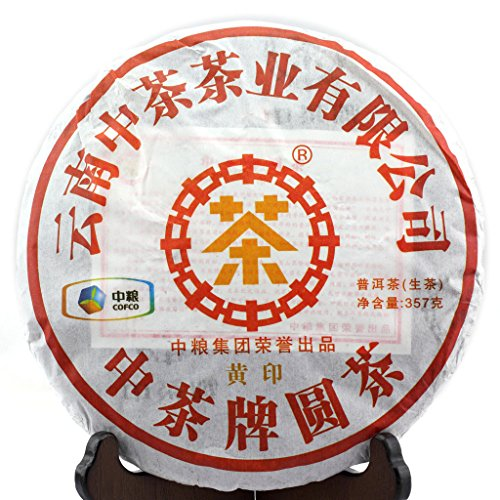 (357g (12.59 Oz) 2012 Year Organic Yunnan CNNP COFCO ZhongCha puer Pu'er Puerh Cake Raw Black Tea)