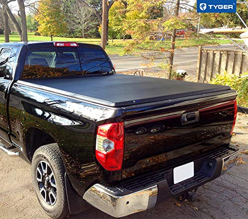 Tyger Auto Black Top T3 Soft Tri-Fold Truck Tonneau Cover for 2014-2020 Toyota Tundra Fleetside 6.5' Bed TG-BC3T1433