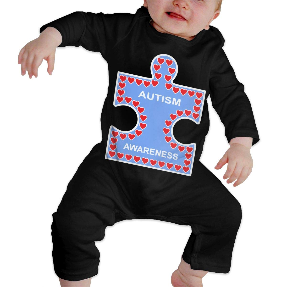 Warm Autism Awareness Cotton Romper Outfit Db84UR@5p Newborn Baby Girls Boys Long Sleeve Bodysuit