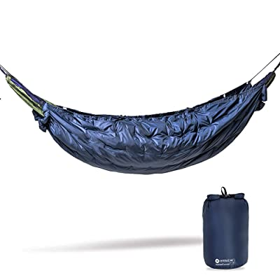 Easthills Outdoors 3 Seasons Cocoon 45F Hammock UnderQuilt, Portable Lightweight Warm Outdoor Camping Quilt (Full Length, Blue): Sports & Outdoors