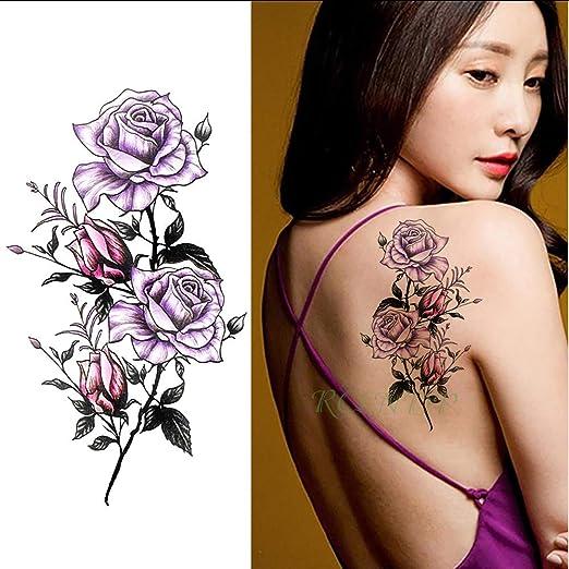 tzxdbh Impermeable Etiqueta Engomada del Tatuaje Temporal Flor de ...