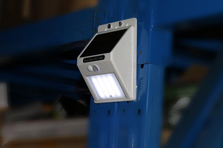Jimeng 4個同梱 壁掛けソーラー充電式16LEDライト 自動点灯 動体検知 防水 電気不要 屋根/軒下/玄関/壁など対応 ホワイト B01N5CT5JM