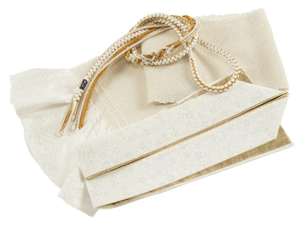 【さらさ】 振袖用 正絹 四ッ巻絞り 帯揚げ帯締め重ね衿 3点セット B076DD96DP h-364 h-364