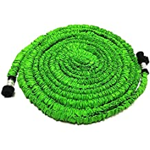 GenLed Expandable Garden Hose, 75ft Strongest Expanding Garden Hose on the Market with Triple Layer Latex Core & Latest Improved Extra Strength Fabric Protection for All Your Watering Needs(Green)
