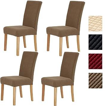 Sonnis Fundas para sillas Pack de 4 Fundas sillas Comedor, Lavable Extraíble Comedor Extraíble Funda,Muy fácil de Limpiar,Duradera Modern Bouquet de ...