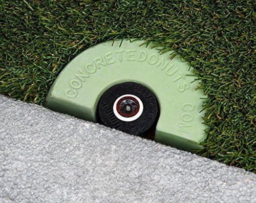 Concrete Donuts for a Spray Head Half Green Small