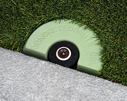 Concrete Donuts for a Spray Head Half, Small, Green by Concrete Donuts