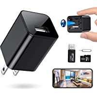 RXAMYDE New 2021 Hidden Camera Mini Spy Charger 1080P USB Motion Activated Camera Wide Viewing Angle 4K Hidden Spy…