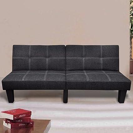 Amazon.com: SKB family Sofa Bed Fabric Adjustable Black ...