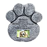 Mochiglory Paw Print Pet Memorial Stone Puppy Tombstone Dog Cat Grave Photo Frame