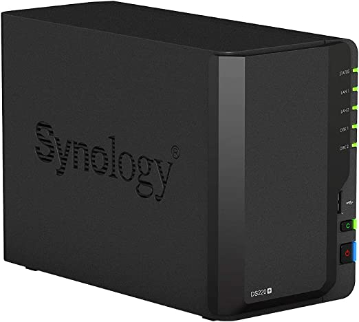 Synology Ds220 12tb 2 Bay Desktop Nas System Installiert Mit 2 X 6tb Western Digital Red