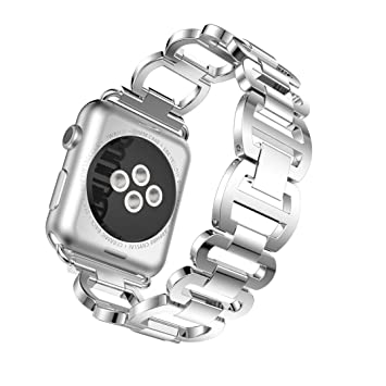 For Apple Watch Series 3/2/1 38mm Adjustable Stainless Steel Bracelet Smart Watch Band...