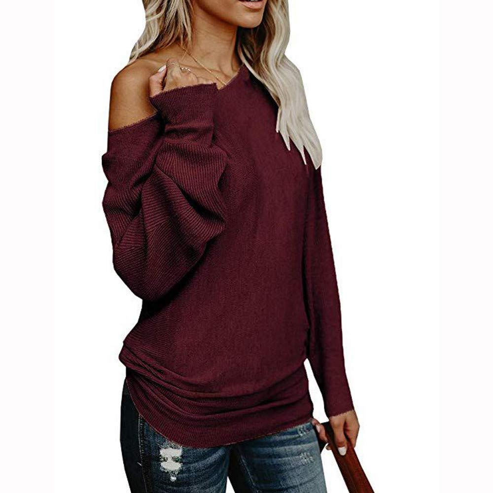 BETTERUU Tops Knit Pullover Shoulder Nude Shirt Dress Pullover Chandaille sweatshirt hooded sports tops ladies