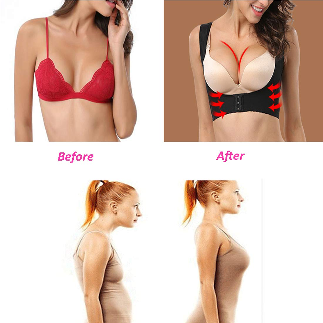 02262da046 Posture Corrector Shapewear for Women Compression Bra Chest Brace Up  Support Tops Vest Shaper Joyshaper