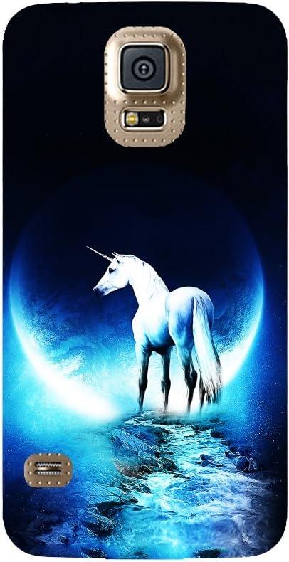 Coque Samsung Galaxy S5 - Licorne planète Bleu: Amazon.fr ...