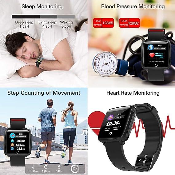 CatShin Pulsera Actividad Inteligent Android/IOS-CS07 Pulsera Deportiva Mujer Hombre Niños Impermeable IP67 con Pulsómetro Monitor de Ritmo Cardíaco ...