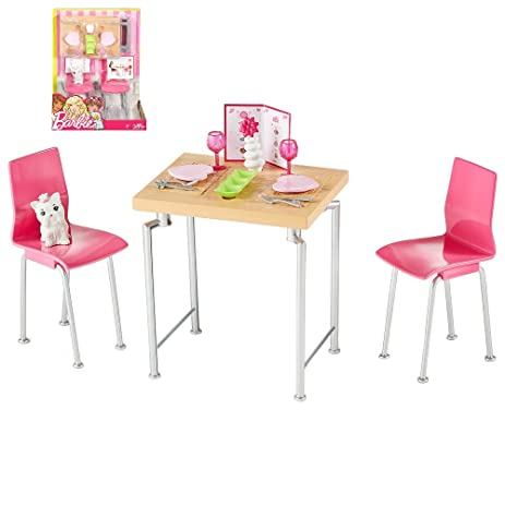 Amazon.com: Barbie - Date Night Dining Set with Kitten Doll Playset: Toys &  Games
