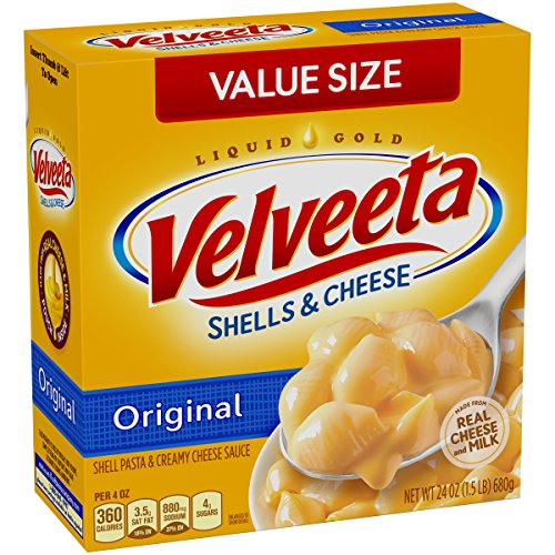 Velveeta Shells & Cheese, Original Family Size, 24-Ounce Boxes (Pack of 3)
