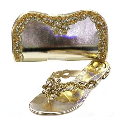 W & W Frauen Damen Kristall mit Schuhe & passender Tasche Größe (Gemz &  Tango): Amazon.de: Schuhe & Handtaschen