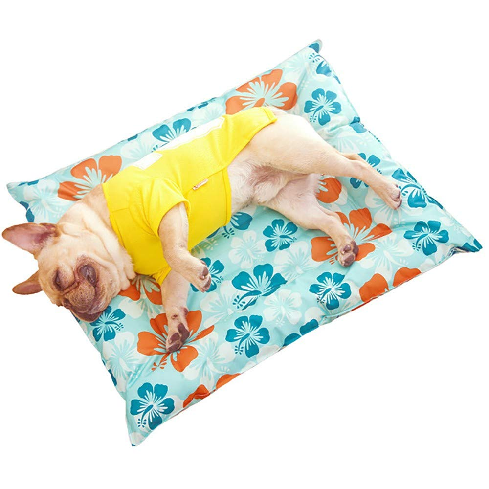 M  6676cm Hoopet Pet bed, summer mat, kennel dog sofa, soft and easy to clean, suitable for large medium and small dogs, and cats and rabbits, etc.