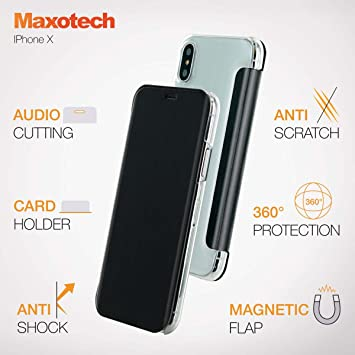 coque iphone x portefeuille magnetique