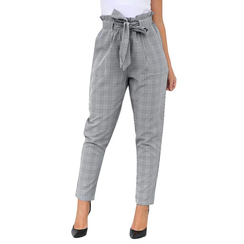 Amazon.com: Women Casual Grid Pants,Jchen(TM) Fashion Womens ...