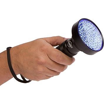 Super Bright 100 Led Blacklight Uv Flashlight Emits A Powerful 30