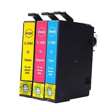 caidi 3 Pack Compatible de repuesto para EPSON 29 x l cartuchos de ...